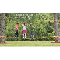 Beginner Slackline Set - Educational Toys, Specialty Toys and Games - Creative, Award Winning for Science, Math and More | Young Explorers
