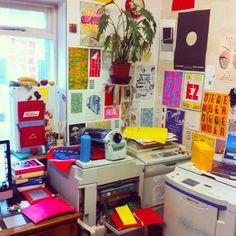 Poster mayhem Monday   #riso #risograph #poster #print #promo #glasgow #graphic #design #studio #art #colour #ink #work #creative #pattern #paper #risottostudio