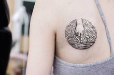 Linework Tattoo by by Uls Metzger