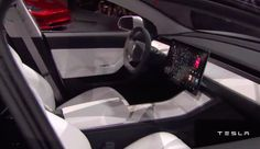 Tesla Model 3 Interior looks like a spaceship
