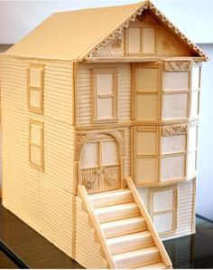 Architecturally correct proportions on this 3-foot tall Victorian home cake, by I Dream of Cake (San Francisco, CA)
