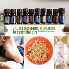 GREAT guide to essential oils via The Handmade Home