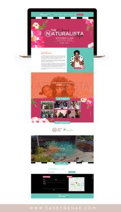 Website Design | Natural Hair Expo | Natural Hair Care | Branding | CRDA Website Design