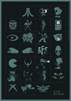 Alphabetical: Si te sabes todos los iconos, eres un verdadero gamer.