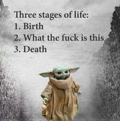 Funny Cute, Really Funny, Hilarious, Funny Stuff, Yoda Images, Yoda Quotes, Yoda Funny, Terrible Jokes, Star Wars Art