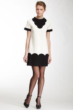 LOVE Moschino Scalloped Design Dress