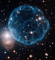 Credit: Gemini Observatory/AURA         This Gemini Observatory image of Kronberger 61 shows the ionized shell of expelled gas resembling a ...