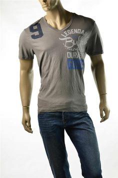 T-shirt Buffalo David Bitton Shirts Fade Graphite V Neck T Shirt Sz L Large New #BuffaloDavidBitton #GraphicTee