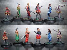 Painted these up earlier this year as my first Malifaux crew. Hope you like them as much as I enjoyed painting them! Dragon Miniatures, Fantasy Miniatures, Mini Paintings, Tabletop Games, Miniture Things, Figure Painting, Dungeons And Dragons, Character Inspiration, Action Figures