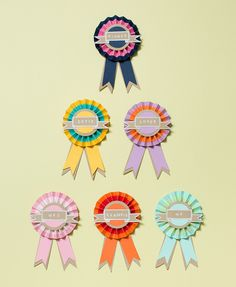 handmade paper rosettes by Lulu Lucky