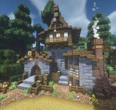 Minecraft Building Designs, Minecraft City Buildings, Minecraft House Plans, Minecraft Farm, Minecraft Cottage, Minecraft Interior Design, Easy Minecraft Houses, Minecraft Medieval, Minecraft Decorations
