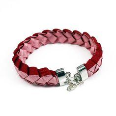 Astrid braided ribbon bracelet - red pink #pintowinGifts & @giftsdotcom