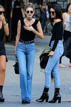 Gigi Hadid and Kendall Jenner #kendalljenner #gigihadid #offdutystyle #fashion #loveluxury