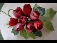 ▶ Бутоньерка из бутонных роз. Часть2 - YouTube