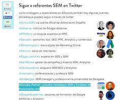 ¿Qué referentes #SEM puedo seguir en Twitter? vía aulacm.com