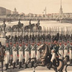Imperial Russian Army review for Tsar Alexander I in St. Petersburg (1815)