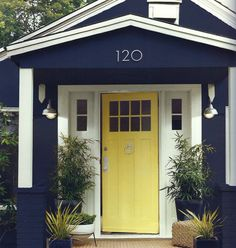 Martha Stewart paint colors: Wrought Iron, Lamb & Rattan. Also LOVE those house numbers!