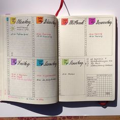 Love this for appointments - weekly billet journal spread