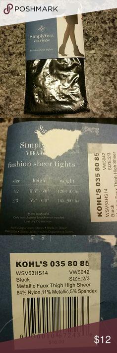 Nwt Simply Vera Fashion sheer tights Nwt Simply Vera Fashion sheer tights. Simply Vera Vera Wang Accessories Hosiery & Socks