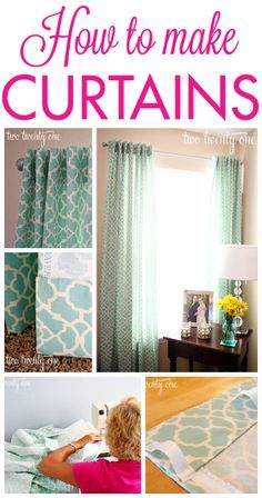 GREAT tutorial on how to make curtains! If I knew how to sew…