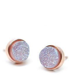 Drusy Dot Stud Earrings