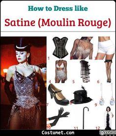 Dress like Satine (Moulin Rouge) Costume for Cosplay & Halloween Moulin Rouge Film, Moulin Rouge Fancy Dress, Moulin Rouge Outfits, Satine Moulin Rouge, Moulin Rouge Dancers, Burlesque Party, Burlesque Costumes, Movie Costumes, Cool Costumes