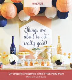 Gather your girls for a night full of bubbly, games, and desserts. Our free DIY instructions make this party a breeze!