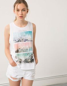 Camiseta Bershka estampado 'Bring Me' - Camisetas - Bershka Mexico