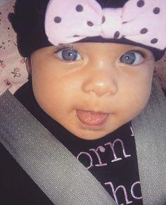 Gorgeous blue eyed baby girl