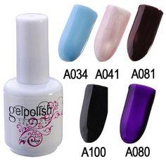 15ml Colorful Nail Art Soak off UV Gel Polish - gel polish :A034 ** Read more  at the image link.