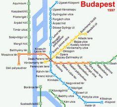 Mappa della metropolitana di Budapest - Cartina della metropolitana di Budapest