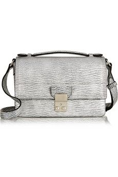 3.1 Phillip Lim The Pashli Mini Messenger textured-leather shoulder bag | NET-A-PORTER