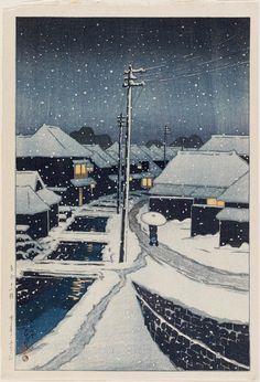 Evening Snow at Terashima Village (Yuki ni kure no Terashima mura), from the series Twelve Scenes of Tokyo (Tôkyô jûnidai) | Museum of Fine Arts, Boston