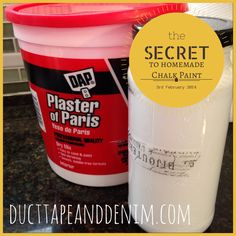 How to make your own homemade chalk paint. Quick, easy, and much less expensive than any of the boutique paints. DIY projects ~ DuctTapeAndDenim.com
