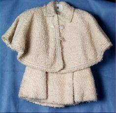 1899 Alice Mason Brown Coat with Cape