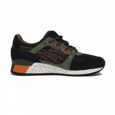 Sneakers pour Homme ASICS GEL-LYTE III Noir, Olive   Orange   Basket- 112c957a05c1