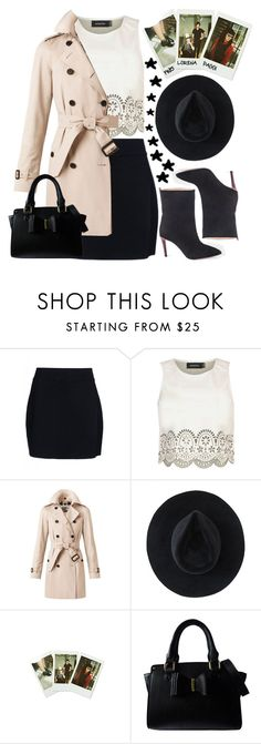 """""""Romantic"""" by an-italian-brand ❤ liked on Polyvore featuring A.L.C., MINKPINK, Burberry, Ryan Roche and Lipsy"""