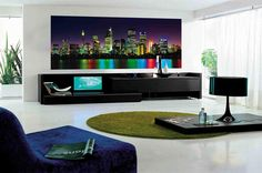 Apartment living room with modern decoration