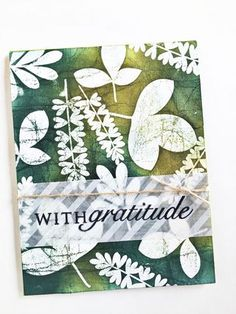 With Gratitude Card by Heather Nichols for Papertrey Ink (August 2015)