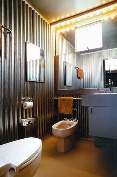 Galvanized bathroom - contemporary bathroom by Glenn Robert Lym Architect