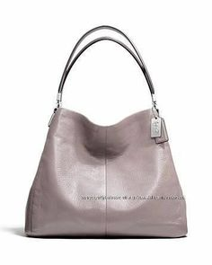 Coach 26224 Madison Small Phoebe Shoulder Bag Leather Grey Gray Quartz New Perfect Spring bag! January 22, 2014