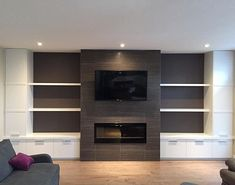 Bradwell project media wall and fireplace finished just in time to bring in the new year! #jessicadavisdesign #design #interiordesign #moderndesign #millwork #custom #renovation #customcabinets #media