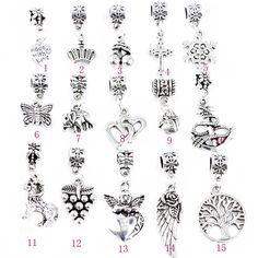 DIY jewelry accessories Europe and the former single accessories Full drill alloy large mail eye drop a variety of styles(15pcs)$10