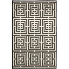 Found it at Wayfair - Courtyard Abstract Black Area Rug