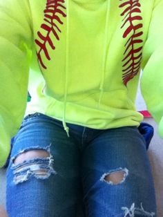 Softball hoodie, I need to make one of these for my daughter during softball season!!