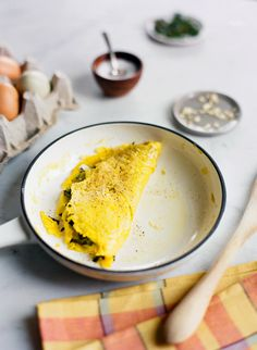 Recipe: Dandelion Greens and Pepper Omelet KINFOLK/ photo by ali harper/ styling by ginny branch