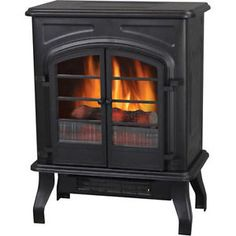 NEW Electric Fireplace Stove Heater Home BLACK 1500 Real