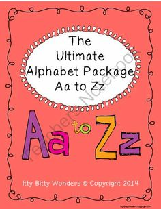 THE ULTIMATE ALPHABET PACKAGE FROM Aa to Zz from IttyBittyWonders on TeachersNotebook.com -  (107 pages)  - Identifying initial letter sounds.  Printing upper and lower case letters.  Drawing pictures that begin with the desired letter.  Bingo Dab search for both upper and lower case.  Spelling CVC words that begin with the desired letter.