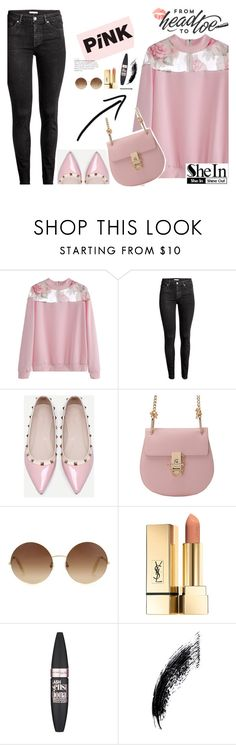 """Shein 10/10"" by mell-2405 ❤ liked on Polyvore featuring WithChic, Victoria Beckham and Maybelline"