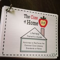 Great to help parents understand the Common Core State Standards! Includes easy ideas to implement during evening read aloud or other literacy time at home.